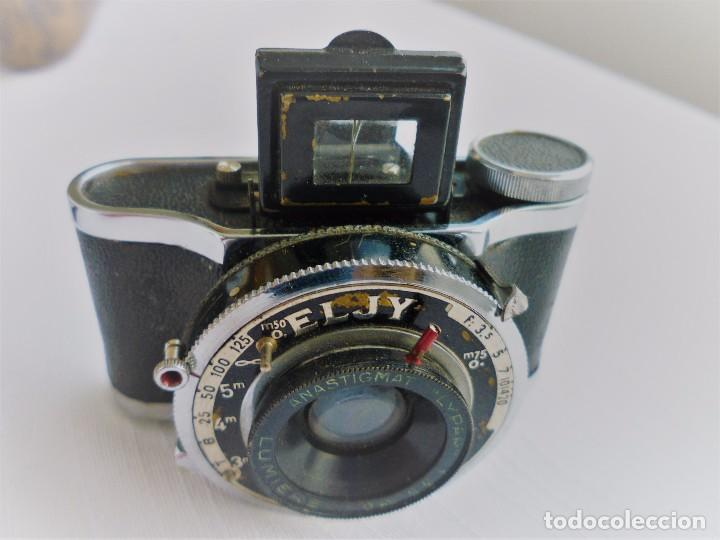 Cámara de fotos: Cámara Fotográfica en Miniatura - Eljy, Lumiere - Años 40-50 - Funda Original Y Disparador ORIGINAL - Foto 3 - 84176172