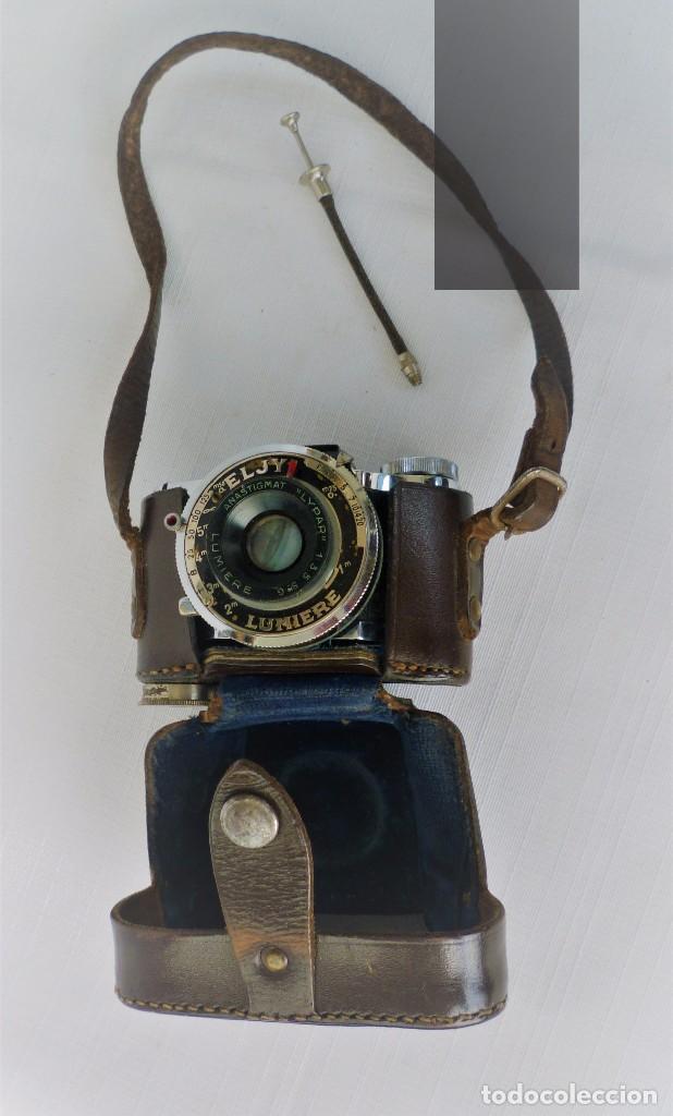 Cámara de fotos: Cámara Fotográfica en Miniatura - Eljy, Lumiere - Años 40-50 - Funda Original Y Disparador ORIGINAL - Foto 4 - 84176172