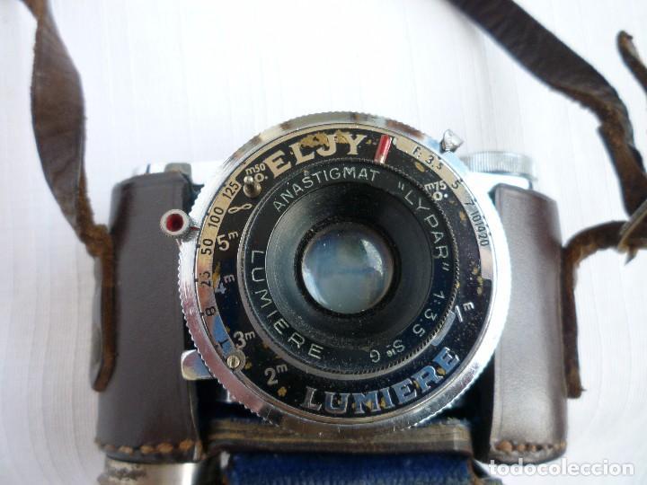 Cámara de fotos: Cámara Fotográfica en Miniatura - Eljy, Lumiere - Años 40-50 - Funda Original Y Disparador ORIGINAL - Foto 5 - 84176172