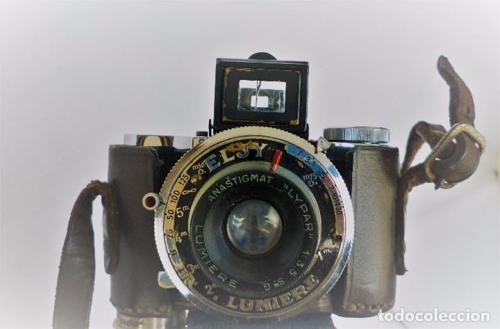 Cámara de fotos: Cámara Fotográfica en Miniatura - Eljy, Lumiere - Años 40-50 - Funda Original Y Disparador ORIGINAL - Foto 6 - 84176172