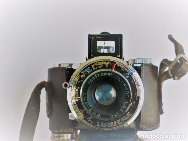 Cámara de fotos: Cámara Fotográfica en Miniatura - Eljy, Lumiere - Años 40-50 - Funda Original Y Disparador ORIGINAL - Foto 10 - 84176172