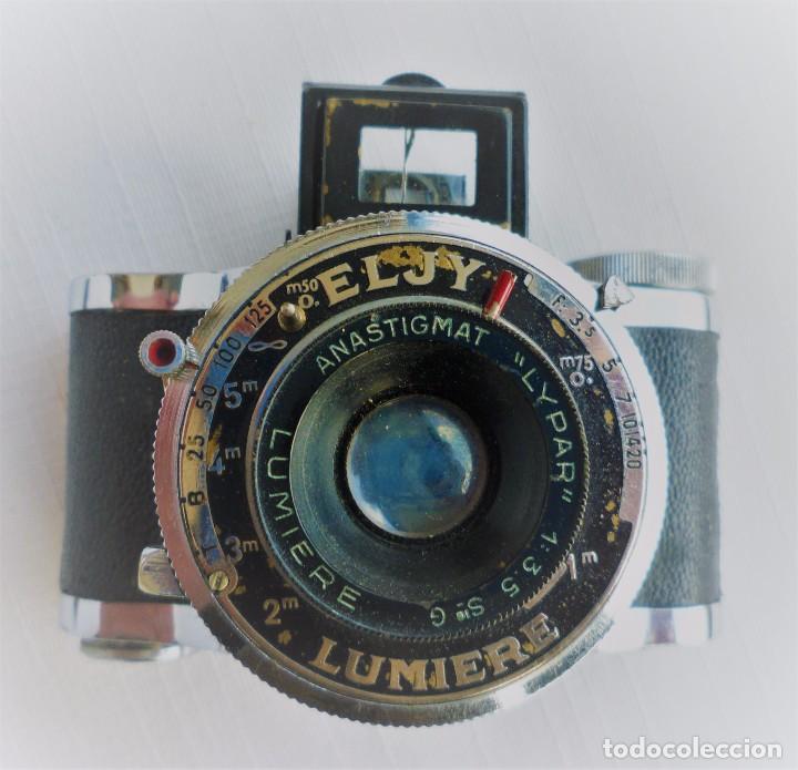 Cámara de fotos: Cámara Fotográfica en Miniatura - Eljy, Lumiere - Años 40-50 - Funda Original Y Disparador ORIGINAL - Foto 11 - 84176172