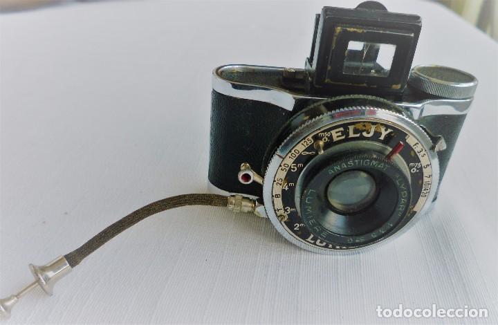 Cámara de fotos: Cámara Fotográfica en Miniatura - Eljy, Lumiere - Años 40-50 - Funda Original Y Disparador ORIGINAL - Foto 15 - 84176172
