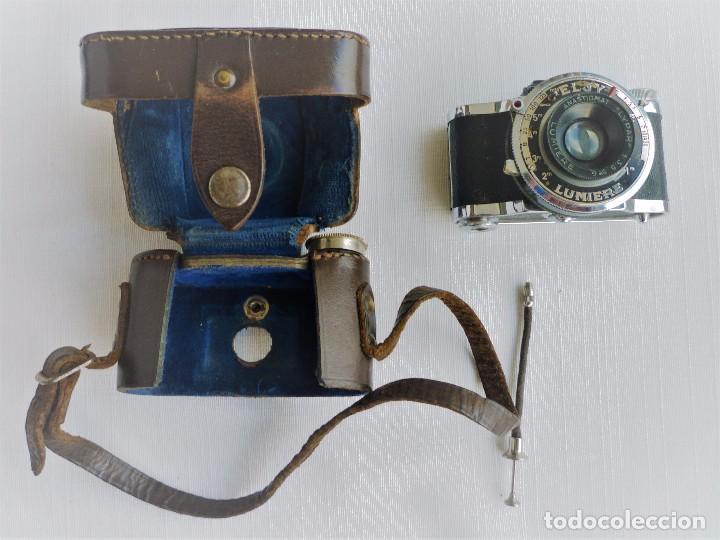 Cámara de fotos: Cámara Fotográfica en Miniatura - Eljy, Lumiere - Años 40-50 - Funda Original Y Disparador ORIGINAL - Foto 19 - 84176172