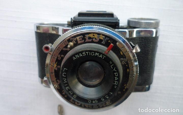 Cámara de fotos: Cámara Fotográfica en Miniatura - Eljy, Lumiere - Años 40-50 - Funda Original Y Disparador ORIGINAL - Foto 20 - 84176172