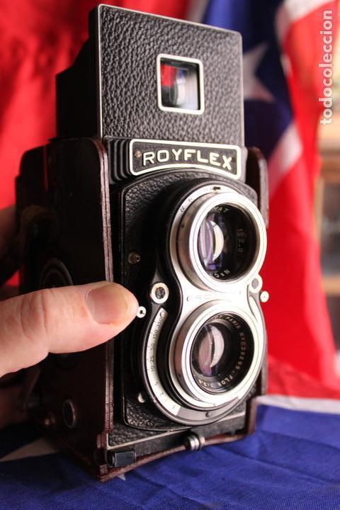 ROYFLEX (TLR) (CÁMARA DE DOS OBJETIVOS) + FUNDA DE CUERO (Cámaras Fotográficas - Antiguas (hasta 1950))