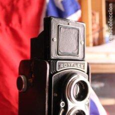 Cámara de fotos: ROYFLEX (TLR) (CÁMARA DE DOS OBJETIVOS) + FUNDA DE CUERO. Lote 89737196