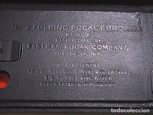 Cámara de fotos: EXCELENTE CÁMARA FOTOGRÁFICA DE 1907 KODAK FOLDING POCKET BROWNIE Nº 2. MODELO B. - Foto 8 - 90888315
