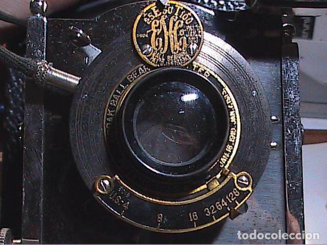 Cámara de fotos: MAGNIFICA CÁMARA FOTOGRÁFICA KODAK FOLDING POCKET Nº 3, MODELO G. 1900. - Foto 5 - 90893090