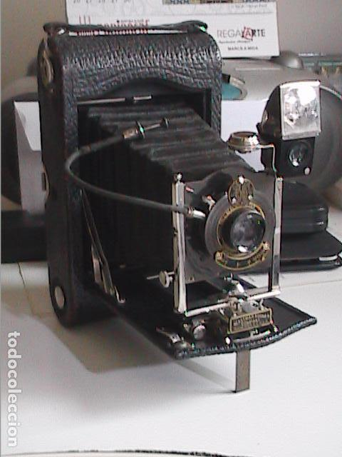 MAGNIFICA CÁMARA FOTOGRÁFICA KODAK FOLDING POCKET Nº 3, MODELO G. 1900. (Cámaras Fotográficas - Antiguas (hasta 1950))