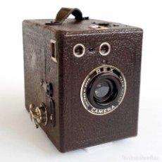 Cámara de fotos: ANTIGUA CÁMARA Nº2 BOX REX 6X9 MARRÓN. ENGLAND AÑOS 30. FUNCIONA.. Lote 96885923