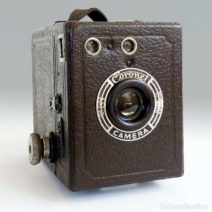 ANTIGUA CÁMARA CORONET BOX 6X9 MARRÓN. ENGLAND AÑOS 30. (Cámaras Fotográficas - Antiguas (hasta 1950))