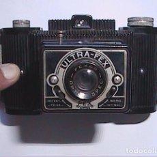 Cámara de fotos: CÁMARA FOTOGRÁFICA ULTRA-FEX-FRANCE. 1946. OBJETIVO FEXAR OPTIC. CON FUNDA DE PIEL.. Lote 97488479