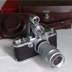 Cámara de fotos: IN 1933, ?LLL?THE LYCRA CAMERA INCLUDED A VARIETY OF LENS AND OTHER ACCESSORIES.NORMAL USE, PERFECT.. Lote 102625331
