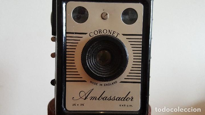 CÁMARA CORONET AMBASSADOR. CÁMARA FOTOGRÁFICA ANTIGUA INGLESA. (Cámaras Fotográficas - Antiguas (hasta 1950))