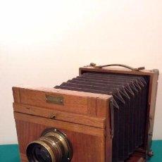 Cámara de fotos: ANTIGUA CÁMARA DE MADERA JOSEF HAWEL. Lote 103863831