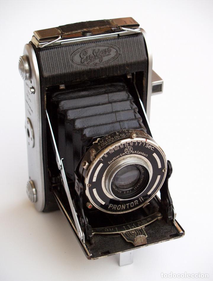 *C1938* • ENSIGN SELFIX 220 ENSAR F4.5 PRONTOR-II • FORMATO MEDIO DOBLE 4,5X6 Y 6X6 FOLDING (Cámaras Fotográficas - Antiguas (hasta 1950))