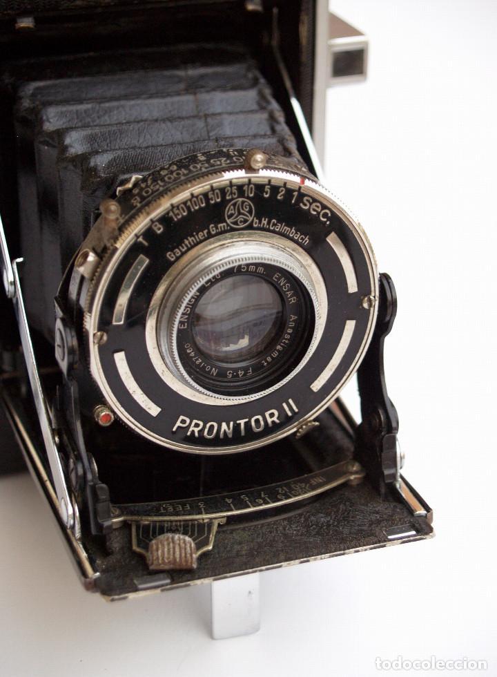 Cámara de fotos: *c1938* • Ensign SELFIX 220 Ensar f4.5 Prontor-II • formato medio DOBLE 4,5x6 y 6x6 folding - Foto 3 - 104476031
