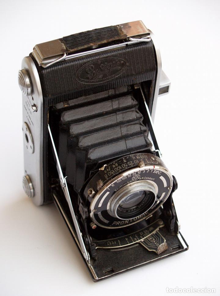 Cámara de fotos: *c1938* • Ensign SELFIX 220 Ensar f4.5 Prontor-II • formato medio DOBLE 4,5x6 y 6x6 folding - Foto 6 - 104476031