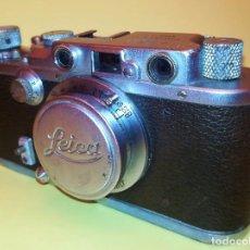 Cámara de fotos: CAMARA FOTOGRAFICA LEICA III A,ORIGINAL,AÑO 1936,GUERRA CIVIL ESPAÑOLA,CON FUNDA,EPOCA ROBERT CAPA. Lote 104632843