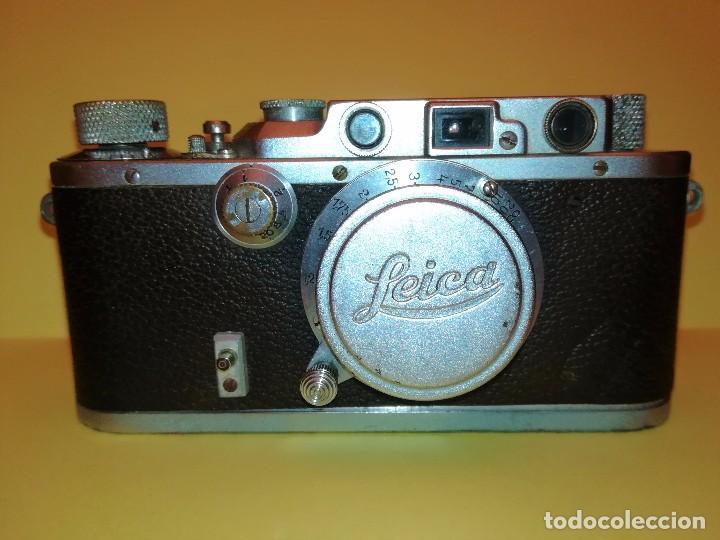 Cámara de fotos: CAMARA FOTOGRAFICA LEICA III a,ORIGINAL,AÑO 1936,GUERRA CIVIL ESPAÑOLA,CON FUNDA,EPOCA ROBERT CAPA - Foto 2 - 104632843