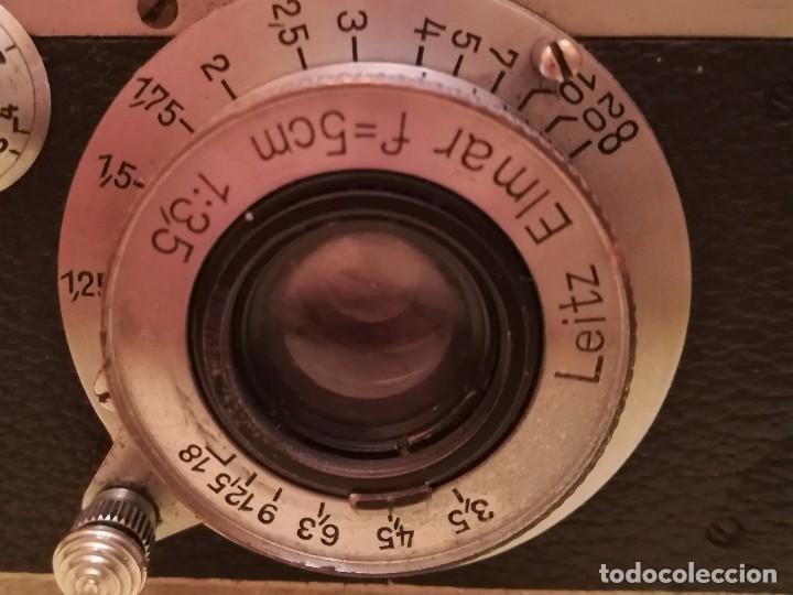 Cámara de fotos: CAMARA FOTOGRAFICA LEICA III a,ORIGINAL,AÑO 1936,GUERRA CIVIL ESPAÑOLA,CON FUNDA,EPOCA ROBERT CAPA - Foto 7 - 104632843