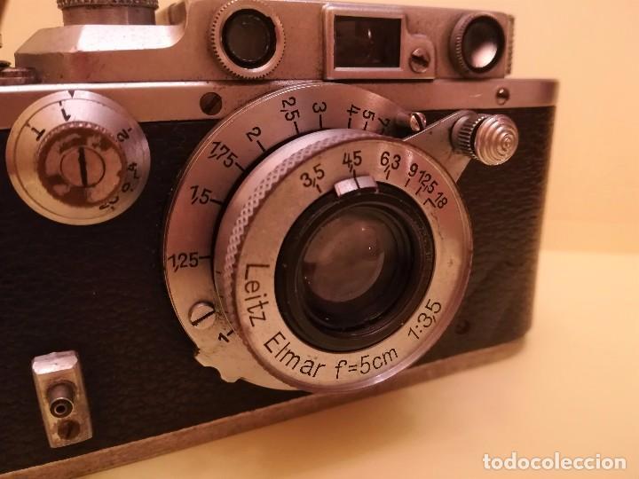 Cámara de fotos: CAMARA FOTOGRAFICA LEICA III a,ORIGINAL,AÑO 1936,GUERRA CIVIL ESPAÑOLA,CON FUNDA,EPOCA ROBERT CAPA - Foto 8 - 104632843