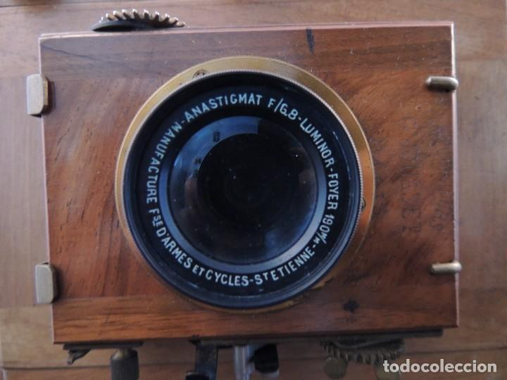 Cámara de fotos: CAMARA DE FOTOS DE FUELLE Y CAJA NOGAL LUMINOR CIRCA 1910 - Foto 9 - 104720635