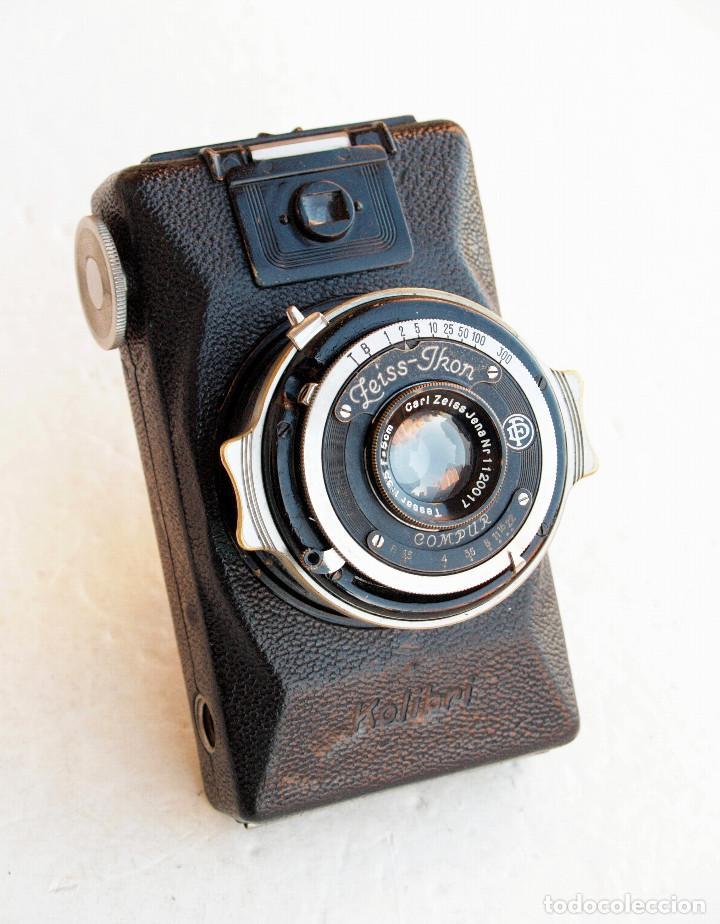*C1930* • ZEISS IKON KOLIBRI (523/18L) TESSAR COMPUR • ANTIGUO MODELO TUBULAR TELESCÓPICO 3X4 (Cámaras Fotográficas - Antiguas (hasta 1950))