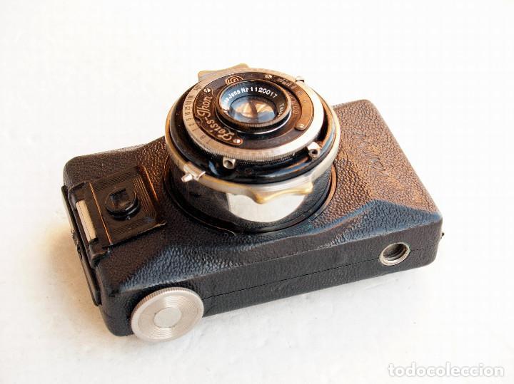Cámara de fotos: *c1930* • Zeiss Ikon KOLIBRI (523/18L) Tessar COMPUR • Antiguo modelo tubular telescópico 3x4 - Foto 4 - 104948591