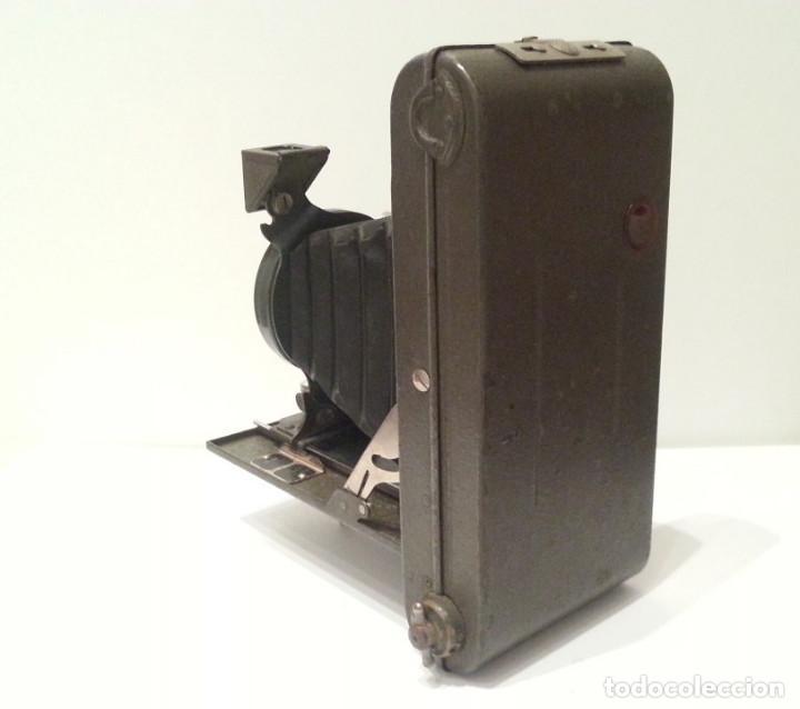 Cámara de fotos: ANTIGUA CÁMARA HOUGHTON BUTCHER ENSIGN GREYHOUND EN COLOR VERDE - Foto 5 - 104987895