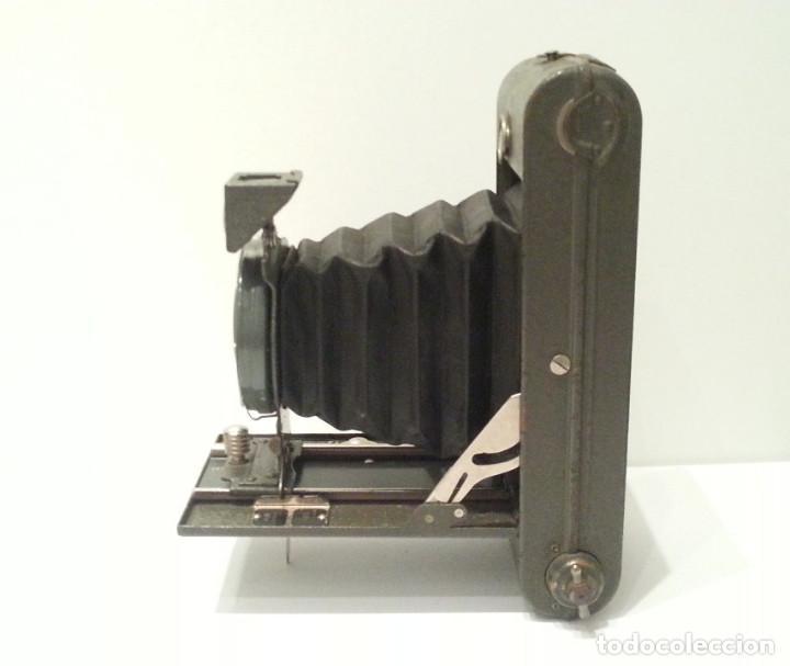 Cámara de fotos: ANTIGUA CÁMARA HOUGHTON BUTCHER ENSIGN GREYHOUND EN COLOR VERDE - Foto 6 - 104987895
