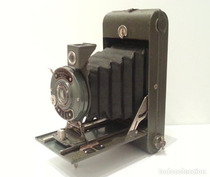 Cámara de fotos: ANTIGUA CÁMARA HOUGHTON BUTCHER ENSIGN GREYHOUND EN COLOR VERDE - Foto 7 - 104987895