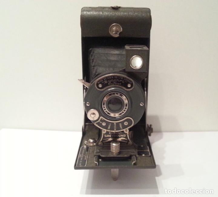 Cámara de fotos: ANTIGUA CÁMARA HOUGHTON BUTCHER ENSIGN GREYHOUND EN COLOR VERDE - Foto 8 - 104987895