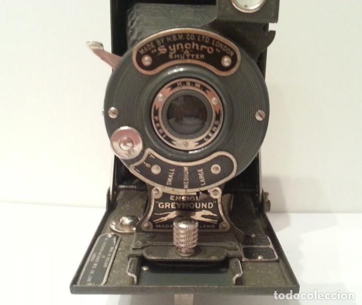 Cámara de fotos: ANTIGUA CÁMARA HOUGHTON BUTCHER ENSIGN GREYHOUND EN COLOR VERDE - Foto 9 - 104987895