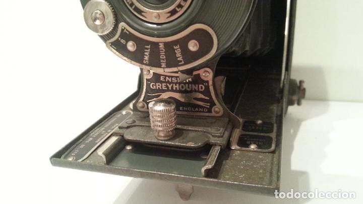 Cámara de fotos: ANTIGUA CÁMARA HOUGHTON BUTCHER ENSIGN GREYHOUND EN COLOR VERDE - Foto 10 - 104987895