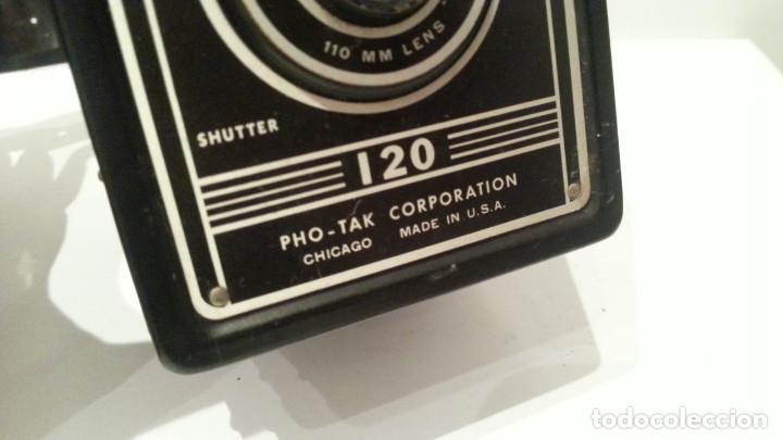 Cámara de fotos: ANTIGUA CÁMARA EAGLE EYE DE LA PHO-TAK CORPORATION DE CHICAGO DE 1950. NÚMERO DE SERIE 1093 - Foto 10 - 104993619