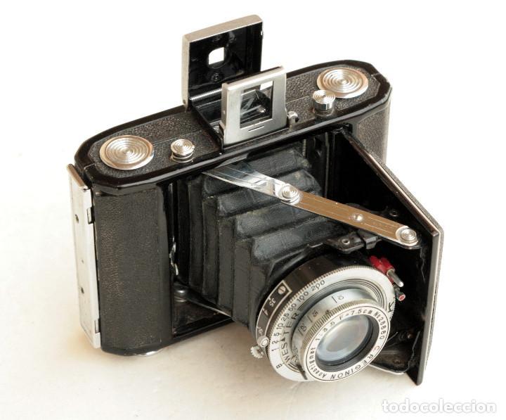 *C1948* • SHOWA SEMI LEOTAX REGINON F3.5 OBTURADOR NKK • FORMATO MEDIO FOLDER 4,5X6 (Cámaras Fotográficas - Antiguas (hasta 1950))