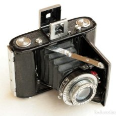 Cámara de fotos: *C1948* • SHOWA SEMI LEOTAX REGINON F3.5 OBTURADOR NKK • FORMATO MEDIO FOLDER 4,5X6. Lote 105212147