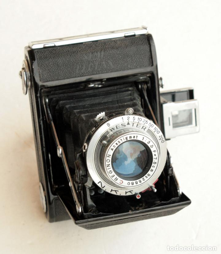 Cámara de fotos: *c1948* • Showa SEMI LEOTAX Reginon f3.5 obturador NKK • Formato medio folder 4,5x6 - Foto 5 - 105212147