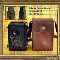 Cámara de fotos: CÁMARA VOIGTLANDER & SON, BRILLANT I + ANASTIGMAT VOIGTAR 1:7,7 F = 7,5 CM. + MÁS FUNDA AÑO 1937. Lote 109526451