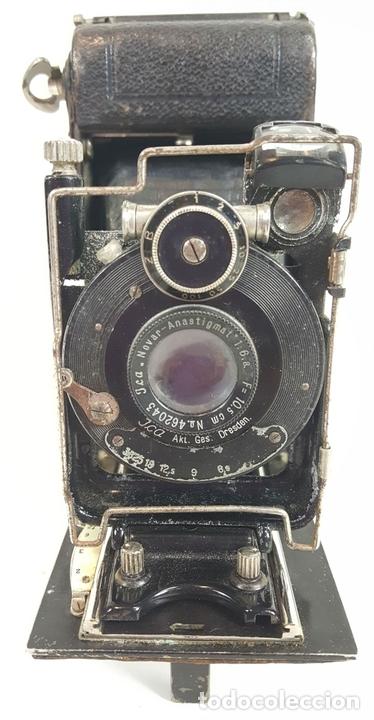 Cámara de fotos: CAMARA DE FUELLE ZEISS IKON ICARETTE. DRESDEN. ALEMANIA CIRCA 1925. - Foto 4 - 110181975