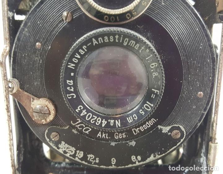 Cámara de fotos: CAMARA DE FUELLE ZEISS IKON ICARETTE. DRESDEN. ALEMANIA CIRCA 1925. - Foto 5 - 110181975