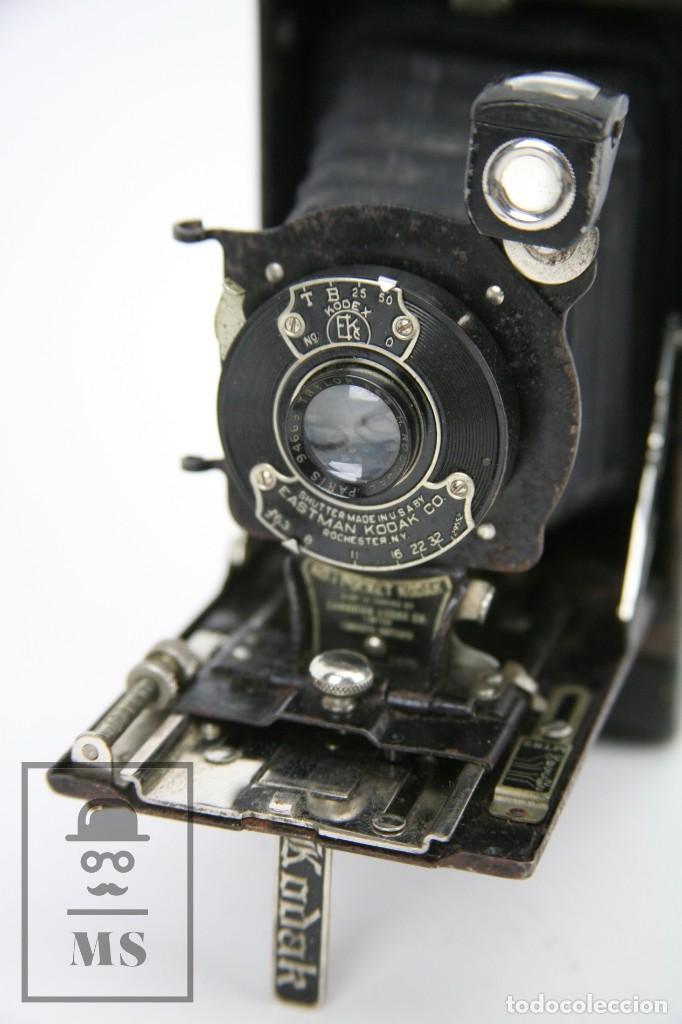 Cámara de fotos: Antigua Cámara Fotográfica de Fuelle - Pocket Kodak No. 1 - Funda Original - Eastman Kodak, Años 30 - Foto 5 - 111569403
