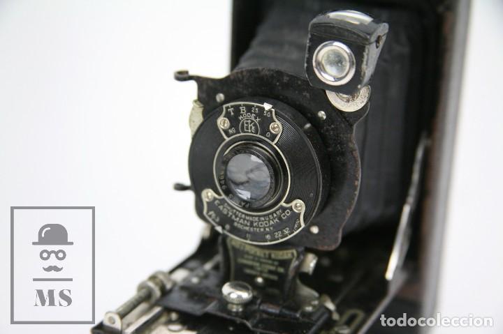 Cámara de fotos: Antigua Cámara Fotográfica de Fuelle - Pocket Kodak No. 1 - Funda Original - Eastman Kodak, Años 30 - Foto 7 - 111569403
