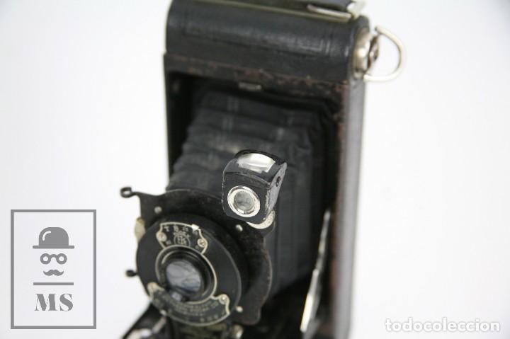 Cámara de fotos: Antigua Cámara Fotográfica de Fuelle - Pocket Kodak No. 1 - Funda Original - Eastman Kodak, Años 30 - Foto 8 - 111569403