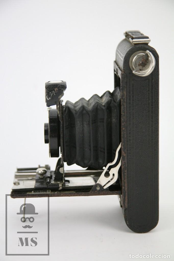 Cámara de fotos: Antigua Cámara Fotográfica de Fuelle - Pocket Kodak No. 1 - Funda Original - Eastman Kodak, Años 30 - Foto 10 - 111569403