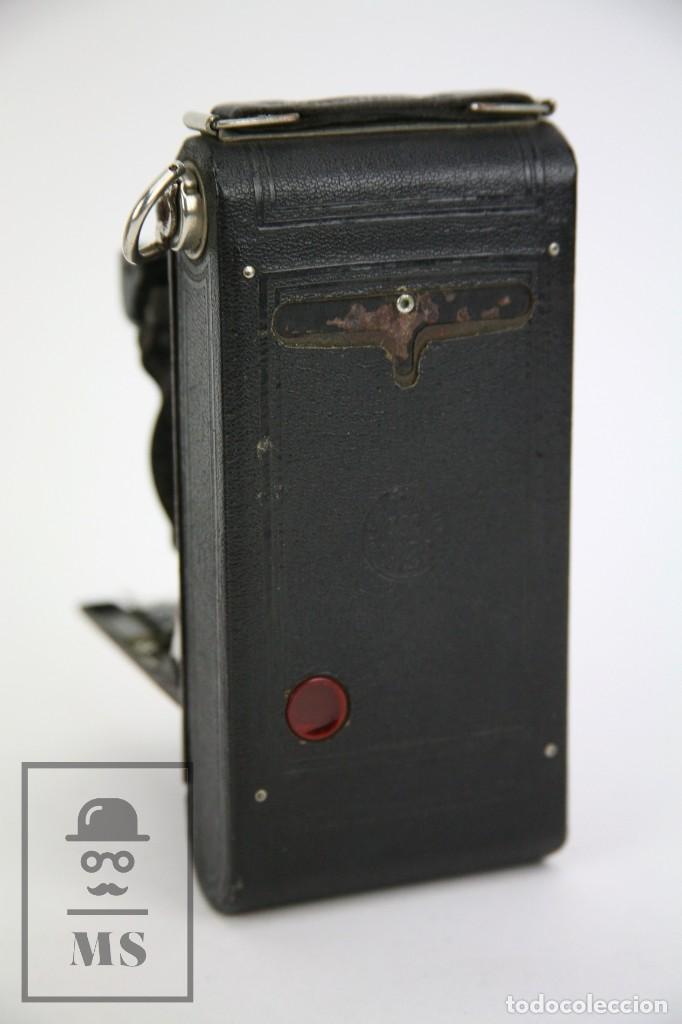 Cámara de fotos: Antigua Cámara Fotográfica de Fuelle - Pocket Kodak No. 1 - Funda Original - Eastman Kodak, Años 30 - Foto 11 - 111569403
