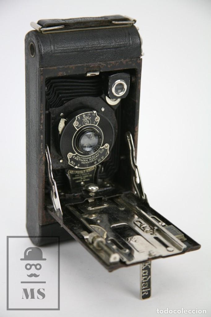 Cámara de fotos: Antigua Cámara Fotográfica de Fuelle - Pocket Kodak No. 1 - Funda Original - Eastman Kodak, Años 30 - Foto 12 - 111569403