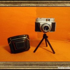 Cámara de fotos: RARA CÁMARA BEIRETTE VS. CROMADA Y BRILLANTE. AÑO 1970 (R-019) MAS FUNDA. Lote 112567006